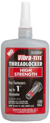 Vibra-TITE - 14025 140 Permanent High Strength Anaerobic Threadlocker, 250 ml Bottle, Red
