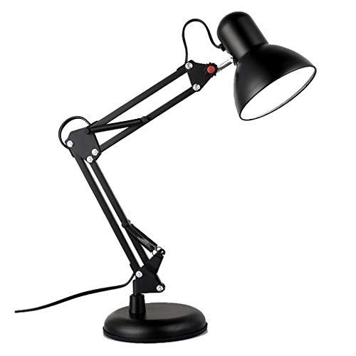 H HILABEE Lámpara de Escritorio LED Lámpara de Escritorio LED Clip de Brazo Oscilante Flexible en Lámparas de Dibujo de Arquitecto - Negro, Individual