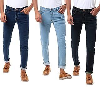 Andora Slim Fit Mid-Rise Side Pocket Jeans for Men - Set of 3
