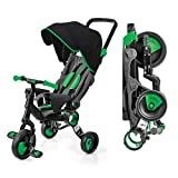 Galileo with Deluxe Canopy - 3 in 1 Stroller Tricycle - No Assembly Required - Green