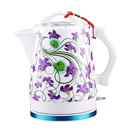 Unknow Tetera eléctrica de cerámica Tetera de Agua inalámbrica Apagado automático Ebullición rápida China Estilo Vintage 1.6L