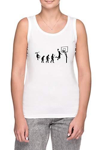 Erido Basketball Evolution - Camiseta de tirantes para mujer, color blanco, blanco, L