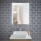 Pebble Grey™ Liberty Illuminated LED Bathroom Mirror with Concealed Heated Demister Mirror Pad and Motion Sensor | 600 x 800 | IP44 Rated | 10 Year Guarantee
