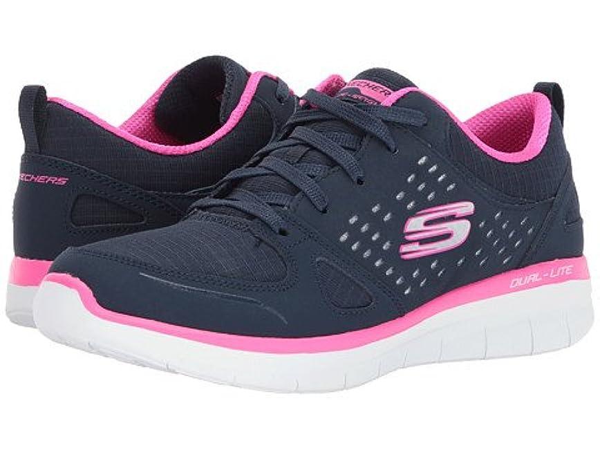 フライトく無し(スケッチャーズ) SKECHERS レディーススニーカー?ウォーキングシューズ?靴 Synergy 2.0 - Rising Star Navy/Hot Pink 7 24cm B - Medium [並行輸入品]
