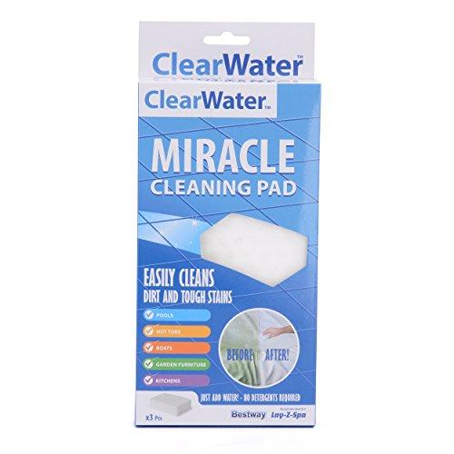 Clearwater miracolo spugna Eraser Pad adatto per Lay-Z-Spa da piscina/spa/barche/cucine e mobili–bianco, pezzi