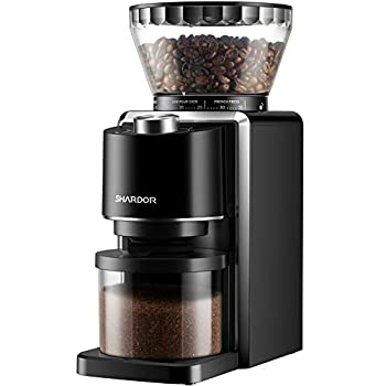 SHARDOR Conical Burr Coffee Grinder Electric Adjustable Burr Mill with 35 Precise Grind Setting for 2-12 Cup Black