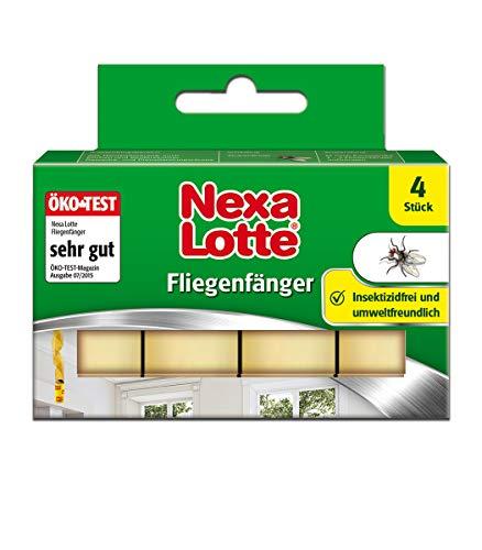 Nexa Lotte Fliegenfänger, zum Bekämpfen von Fliegen mit hoher Klebekraft und Lockwirkung, Ökotest sehr gut, 4 St.