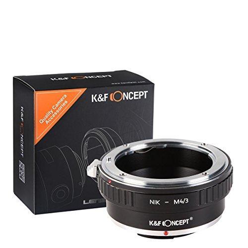 K&F Concept Adaptador para Montar Lentes Nikon Nikkor AI F AI-S Mounta cuerpos de cámara Micro Cuatro Tercios (M4/3)