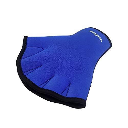 InnoGear Swim Gloves Aquatic Fitness Water Resistance Training Aqua Fit Webbed Gloves, 1 Pair (Large)