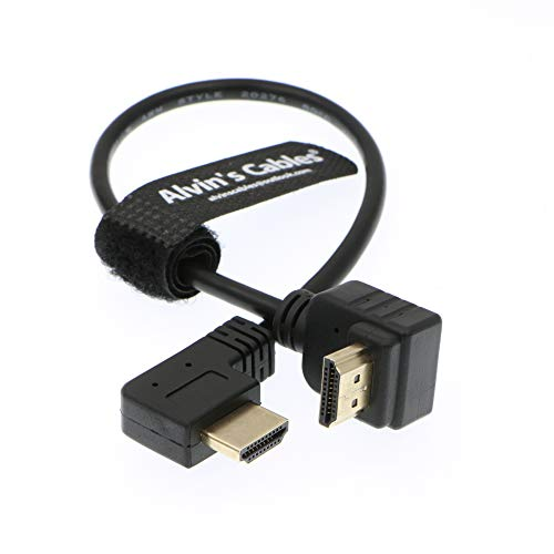 Alvin's Cables Z CAM E2 L Form 2.0 HDMI Kabel für Atomos Shinobi Ninja V Monitor Portkeys BM5 Monitor 90 Grad bis zum Rechtwinklig nach unten 30CM