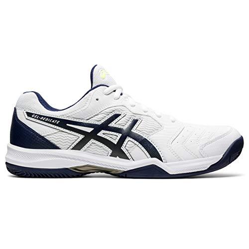 ASICS Gel-Dedicate 6 Clay, Scarpe da Tennis da Uomo, (Peacoat Blanc), 46 EU