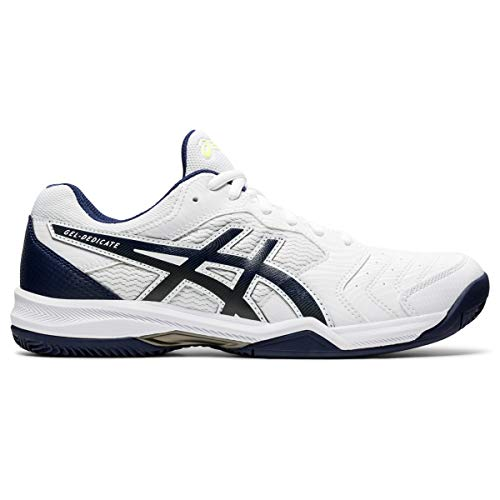 ASICS Gel-Dedicate 6 Clay, Zapatillas de Tenis Hombre, White Peacoat, 46 EU