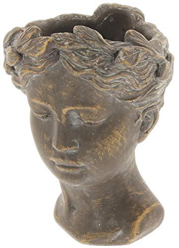 Lucky Winner Greek/Roman Style Female Statue Head Cement Planter (8')