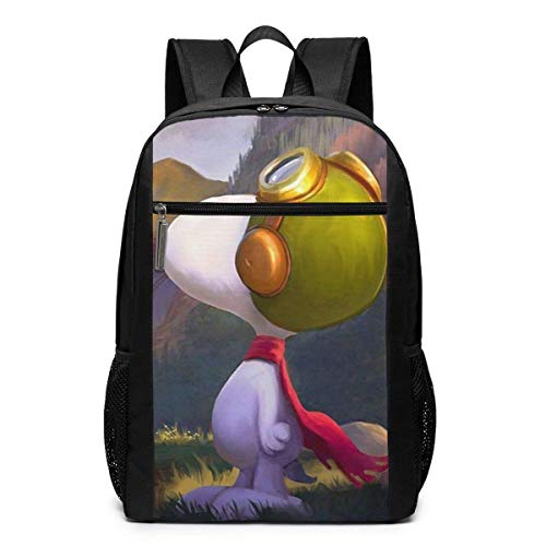 xiameng Backpack 17 Inch, Cool Snoopy Large Laptop Bag Travel Hiking Daypack For Men Women School Work