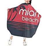 Barber Cape For Kids Miami Sunset Haircut Barber Cape Cover Salon Waterproof Hair Cutting Cape Apron For Child Boys Girls