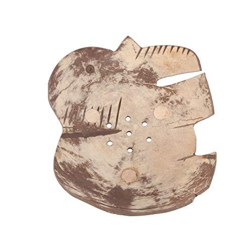Garneck Jabonera de Madera con Forma de Animal Elefante Jabonera Bandeja para Bañera Plato de Ducha Esponja para Cocina Baño Esponja Esponja Jabón