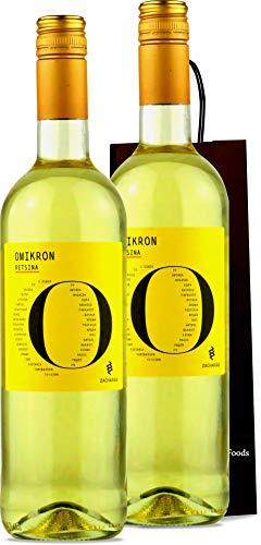 Retsina Wein aus Griechenland | geharzter Weisswein trocken 2x 750ml Flasche