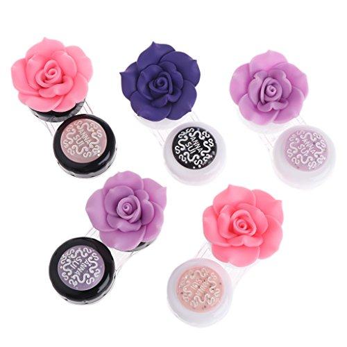 A0127 Neue Reise tragbare nette reizende Blume Kontaktlinsen Beh?lter Kasten Kasten