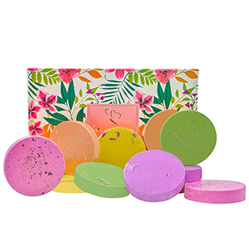 Shower Steamers Set 12 Tablets Aromatherapy Bath Bombs with Essential Oils,Stress Relief and Relaxation Home Spa Gifts for Women and Mom