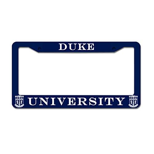 dcdbubud Duke University Durable Aluminum Metal License Plate Cover Design License Plate Frame 2 Holes Screws for US Size White 16x31cm