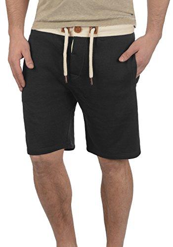 !Solid TripShorts Herren Sweatshorts Kurze Hose Jogginghose Mit Fleece-Innenseite Und Kordel Regular Fit, Größe:L, Farbe:Black (9000)