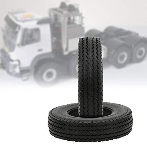 Dilwe 2 PCs Verschleißfeste Gummireifen 85x21mm für Tamiya 1/14 RC Truck Tractor Reifen aus Gummi