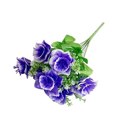 1 Bouquet Flower Plant Artificial Fake Babysbreath Daffodil Home Office DIY Decor Dark Purple