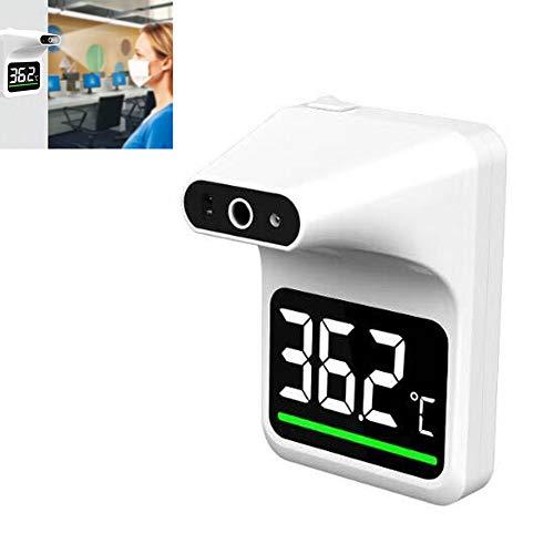 XW Hanging Termómetro de infrarrojos con fiebre alarma, sin contacto temperatura escáner, pared de la frente de temperatura de la pistola para los lugares públicos