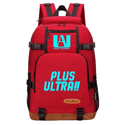 NLJ-lug Backpack School Bags for Teenage Girls Boys Laptop Backpack Casual Travel Backpack My Hero Academia