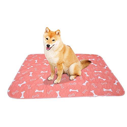 Smandy Pet Pee Pad, 3 Tamaños Reutilizable Impermeable Cachorro Perro Gato Pee Cama Cojín Alfombra Lavable Pet Trainging Pads Super Absorbente Perro Orina Estera(70 × 80cm)