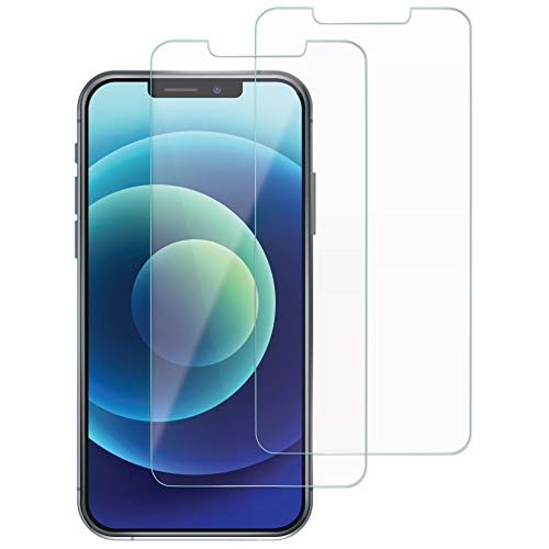 EiZiShield Eizistrong Series Screen Protector for Apple iPhone 12 & iPhone 12 Pro, Thick Bendable Tempered Glass Shield, Case Friendly, Clear, 2 Pack