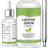 Lightening Serum with Kojic Acid,Natural Skin Lightener Whitening Serum Dark Spot Corrector Remover for Face & Body - 1 FL.OZ