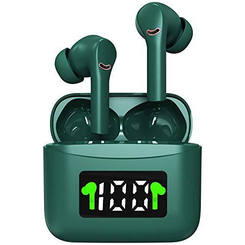 Auriculares Inalámbricos Bluetooth 5.2, TWS Deportivos Auriculares con Micrófono IPX7 ,estéreo Cascos Impermeable Auriculares Control Tactil con Caja de Carga Portátil