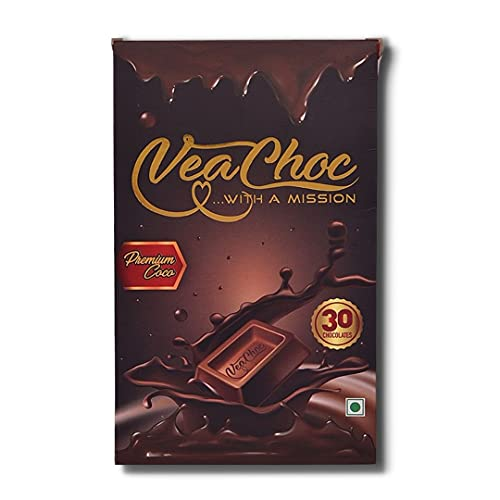 VeaChoc Iron Chocolates with Vitamin C and Blood Builder Supplement Organic Health Supplements for Women Men and Kids with Iron Deficiency (Premium Cocoa Chocolates)
