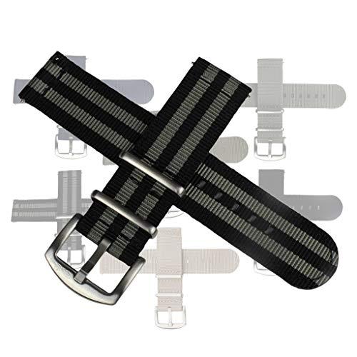 Kwik Change Nylon Watch Bands by BluShark Bond Watch Strap 22mm L/XL Length