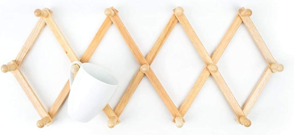 Fox Run OFFer Expanding Beechwood NEW before selling ☆ Rack Wall Coffee Mug