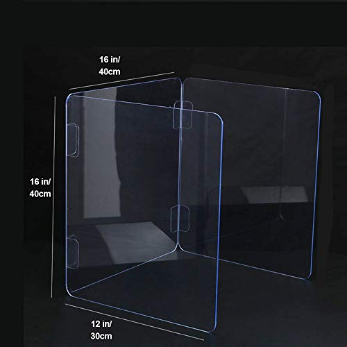 Sneeze Guard Student Desk Desk plexiglass Sneeze Armor Acrylic plexiglass Protective Cover to Protect Employees from coughing and Sneezing() (Size : 161216 in)