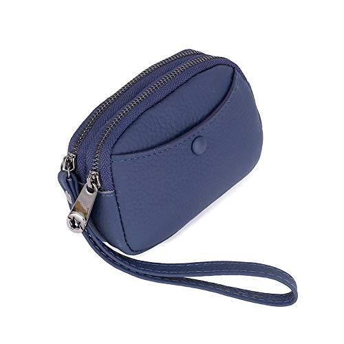 NOLOGO Wallet Damen Handgelenktasche Geldbörse einfach Geldbörse Vertical Wallet (Color : Dark Blue)