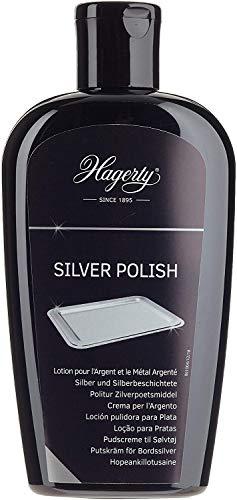 Hagerty Silver Polish 250 ml I Effiziente Silber-Politur für Silber und versilbertes Metall I Polierpaste mit Sofortwirkung für Vasen Rahmen Accessoires Dekorationsartikel usw I für erneuerten Glanz