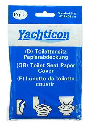 Yachticon Toilettensitz Papierabdeckung - 10 Stück