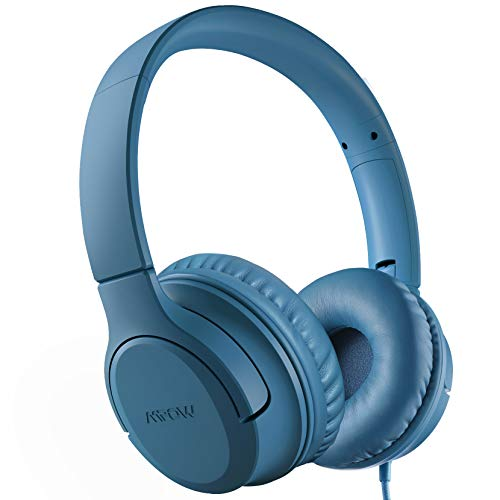 Kids Headphones, Mpow CHE2 Wired Headphones for Kids Teens, Children Headphones with Volume Limit, Foldable Adjustable On-Ear Headphones for School, Travel, Compatible with Cellphones, Tablets, PC