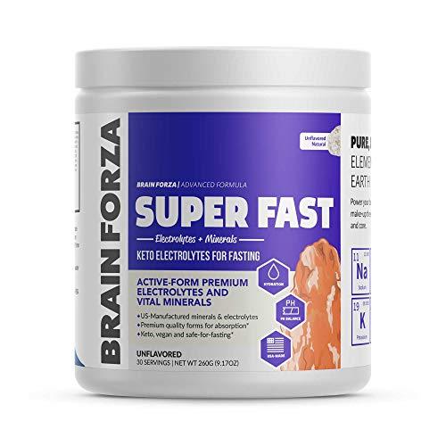 Brain Forza Super Fast Keto Electrolytes for Fasting - Premium...