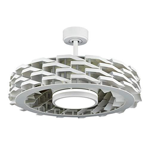 Sulion 072232 Ness Ventilador de techo blanco sin aspas con iluminación LED doble de 54 cm de diámetro, Blanco