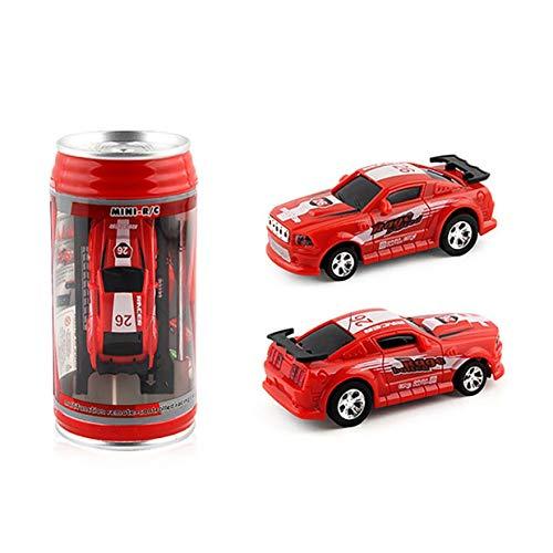 20Km / h Coke Can Mini RC Radio de Coche Control Remoto Micro Racing Car 4 Frecuencias Juguete para niños Regalos RC Modelos - Rojo
