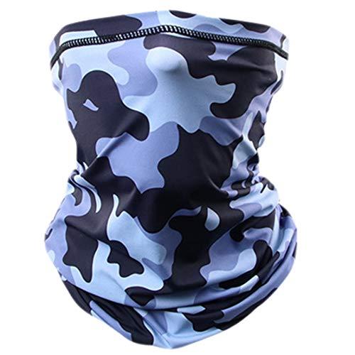 Cache-cou Unisexe Tour De Cou Moto Cyclisme Masque Camouflage Impression Bandeau de Sport de Plein Air Été Balaclava Mask Camouflage Bleu/Taille unique