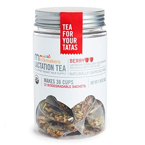 Munchkin Milkmakers Lactation Tea, Berry, 12 Count