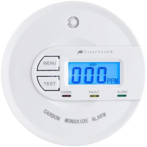VisorTech CO Melder: Kohlenmonoxid-Melder mit 10-Jahres-Sensor & Display, 85 dB, EN 50291 (CO Warnmelder)