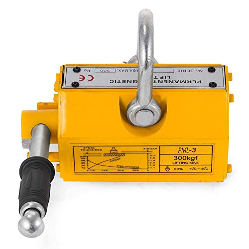 Steel Lifting Magnet 300KG Metal Lifting Magnet 660 LB Permanent Lifting Magnet Hoist Shop Crane for Heavy Duty