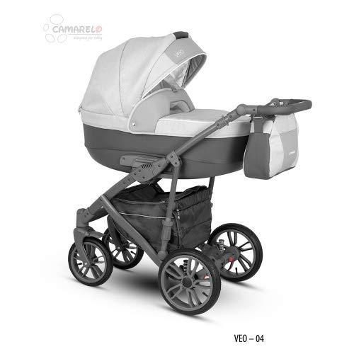 Camarelo Veo - 3in1 Kombikinderwagen Farbe Veo-4 hellgrau