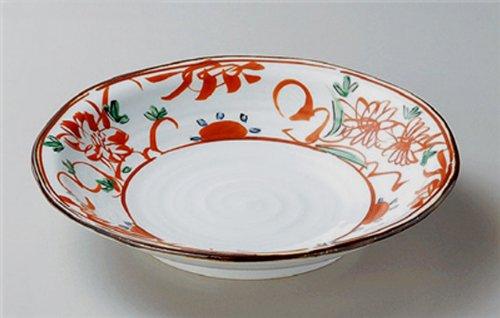 akae-flower Jiki japonés tradicional porcelana plato redondo de mediano) fabricado en Japón